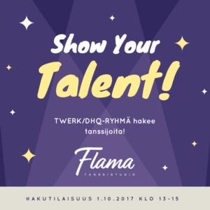 Tanssistudio Flaman uusi ja upea TWERK/DHQ-RYHMÄ hakee tanssijoita!