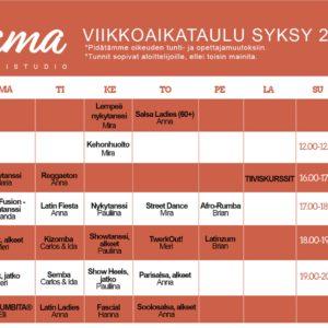 Muutoksia Flaman viikkoaikatauluun 16.10. alkaen