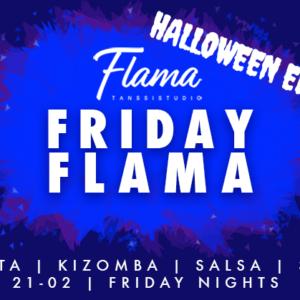 Viikonlopun huikea tapahtumakattaus – Friday Flama Halloween Edition, Parisalsan starttikurssi ja Salsa Styling à la Matias Löyttyniemi!