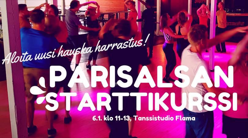 Parisalsan starttikurssi aloittelijoille la 6.1. klo 11–13