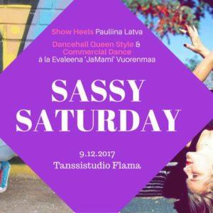 Vuoden viimeiset tiiviskurssit: la 9.12. Sassy Saturday ja su 10.12. jazztanssia