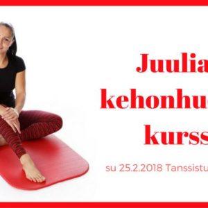 Tulevana sunnuntaina 25.2. Juulia Niemen kehonhuollon tiiviskurssi