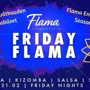 Flaman kevätkauden päätös Friday Flamassa tänä perjantaina 25.5.