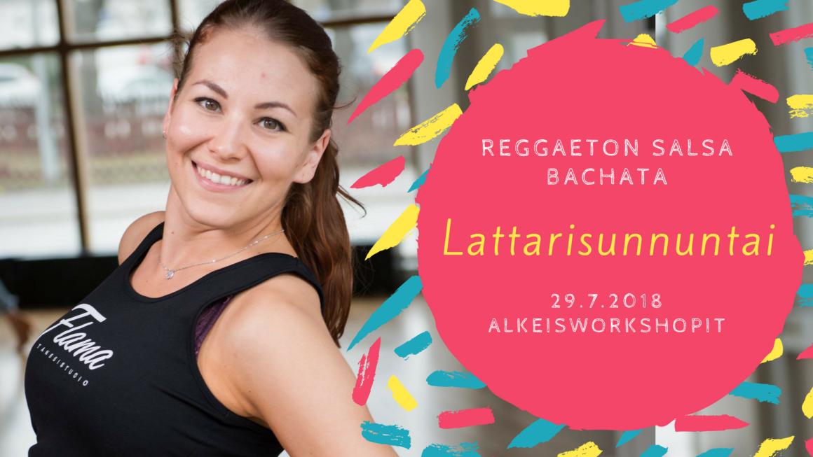 Lattarisunnuntai: soolosalsan, -bachatan ja reggaetonin alkeet 29. heinäkuuta (TÄYNNÄ)