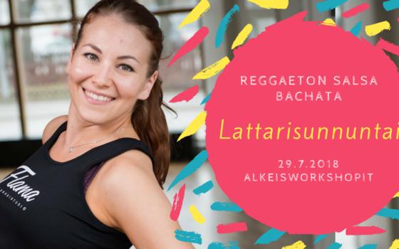 Lattarisunnuntai: soolosalsan, -bachatan ja reggaetonin alkeet 29. heinäkuuta