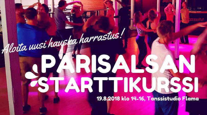Parisalsan starttikurssi su 19.8. klo 14–16