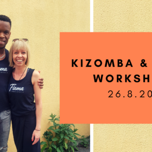 Kizomba & Semba -workshop tulevana sunnuntaina 26.8.