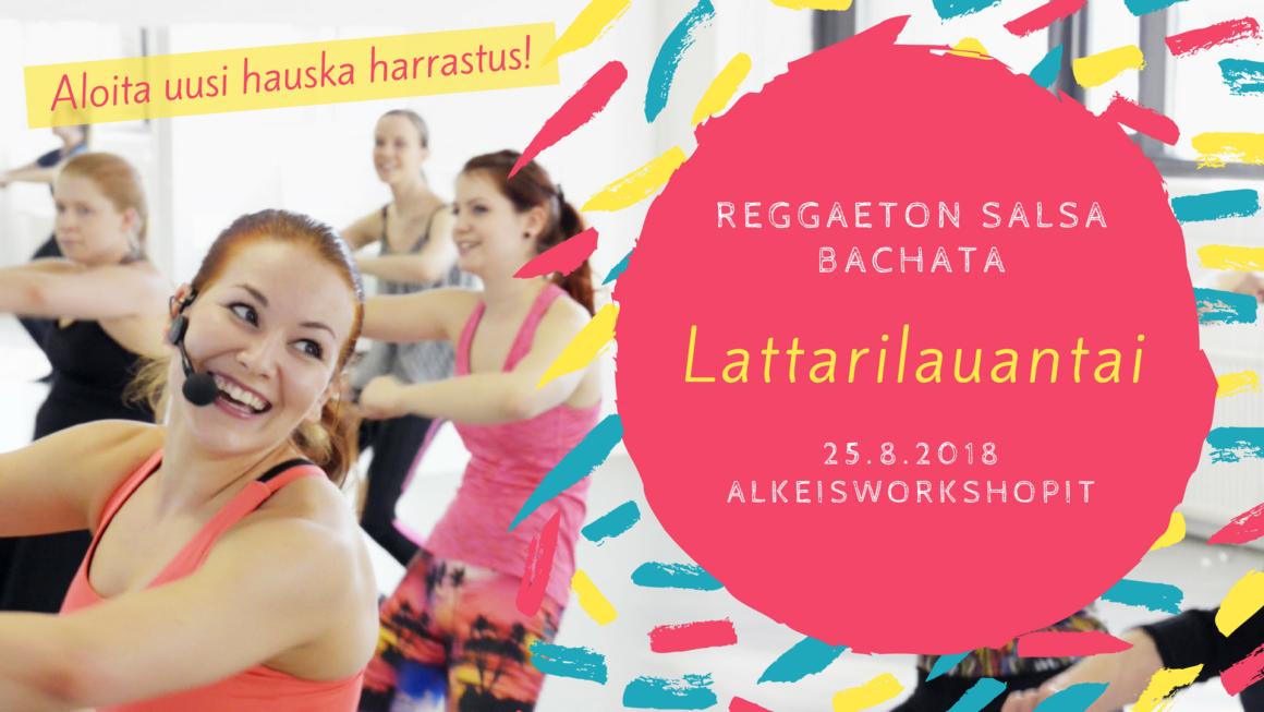 Lattarilauantai 25. elokuuta: reggaetonin, soolosalsan ja -bachatan alkeet
