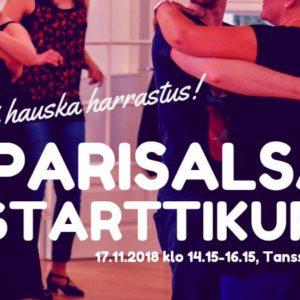 Parisalsan starttikurssi lauantaina 17. marraskuuta